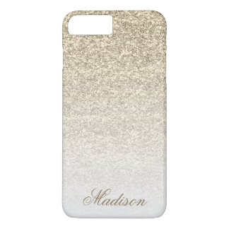 Ombre Gold Glitter iPhone 7+ Case
