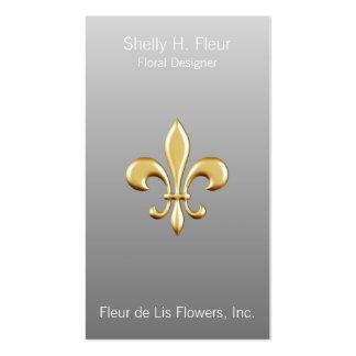 Ombre Golden Fleur De Lis Pack Of Standard Business Cards
