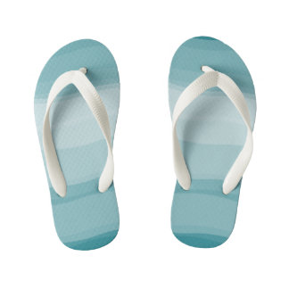 Ombre Gradient Pattern Cool Flip Flops