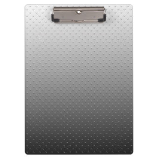 Ombre Gray Faux Metal Texture Look Clipboards