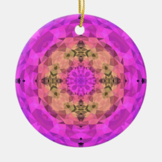 Ombre Kaleidoscope 1 Round Ceramic Decoration