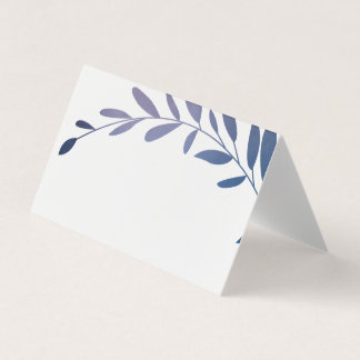 Ombre laurels place cards