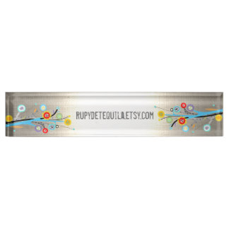 Ombre Lights wild flowers Desk Nameplate