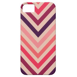 Ombre Magenta Chevron Stripes iPhone 5 Case