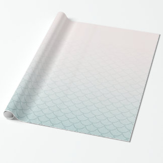 Ombre Mermaid Scales Wrapping Paper