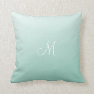 Ombre Mint Green Throw Pillow