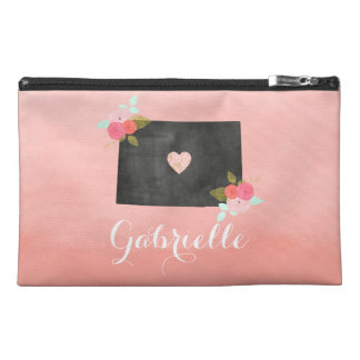 Ombre Monogram Colorado State Moveable Heart Travel Accessory Bag