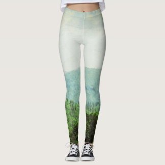Ombre, Mountain and Trees, leggings