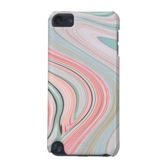 ombre pastel mint coral pink marble swirls iPod