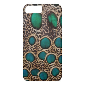 Ombre Peacock Pheasant Feathers iPhone 8 Plus/7 Plus Case