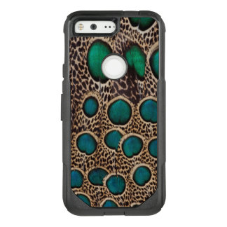 Ombre Peacock Pheasant Feathers OtterBox Commuter Google Pixel Case