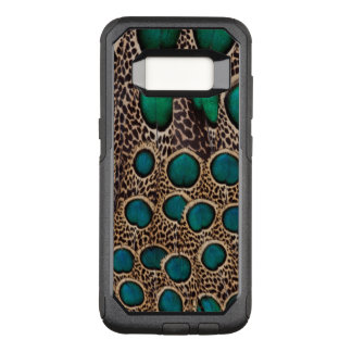 Ombre Peacock Pheasant Feathers OtterBox Commuter Samsung Galaxy S8 Case