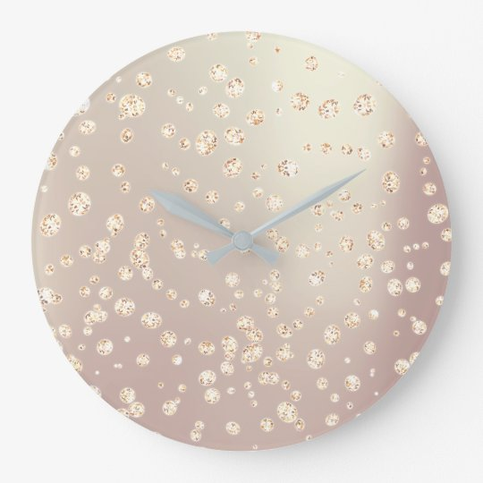 Ombre Pearly Rose Gold Metallic Swarovski Crystal Large