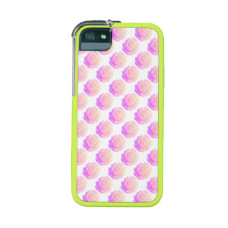 Ombre Pink Frosting Rose Change Background Color Case For iPhone 5