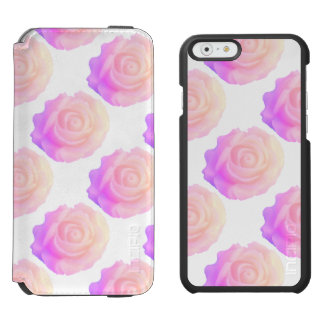 Ombre Pink Frosting Rose Change Background Color Incipio Watson™ iPhone 6 Wallet Case