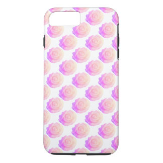 Ombre Pink Frosting Rose Change Background Color iPhone 7 Plus Case