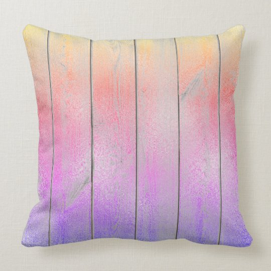 Ombre Purple Pink Glam Metallic Wood Cottage Home
