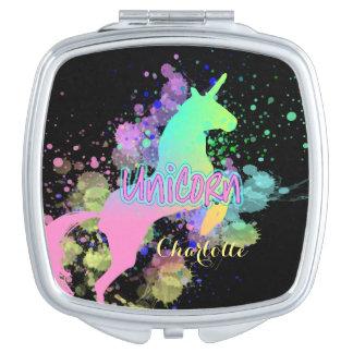 Ombre Rainbow Fantasy Unicorn Makeup Mirrors