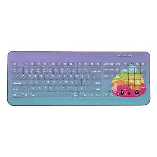 Ombre Rainbow Poop Emoji Wireless Keyboard