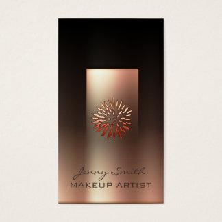 Ombre rose gold gentle dandelion modern luxury business card