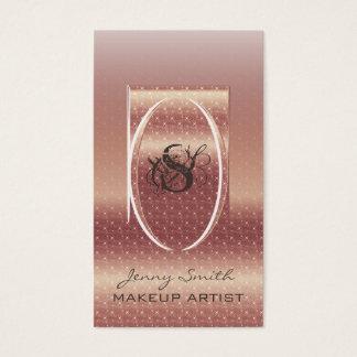 Ombre rose gold sprakle modern luxury monogram