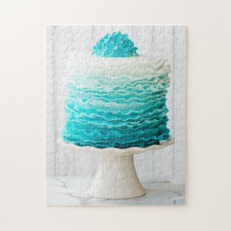 Ombre ruffle cake jigsaw puzzle