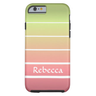Ombre Stripes Tough iPhone 6 Case