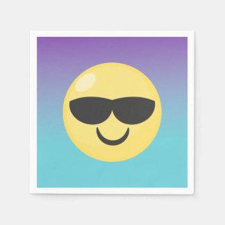 Ombre Sunglasses Emoji Party Napkins Disposable Napkins