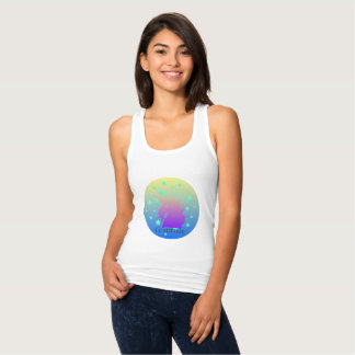 Ombre unicorn with word gratitude tank top