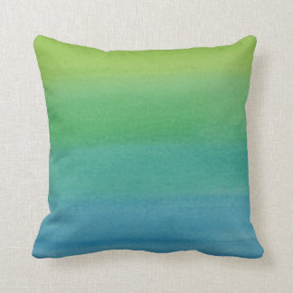Ombre Watercolor Print Cushion Mermaid Colors