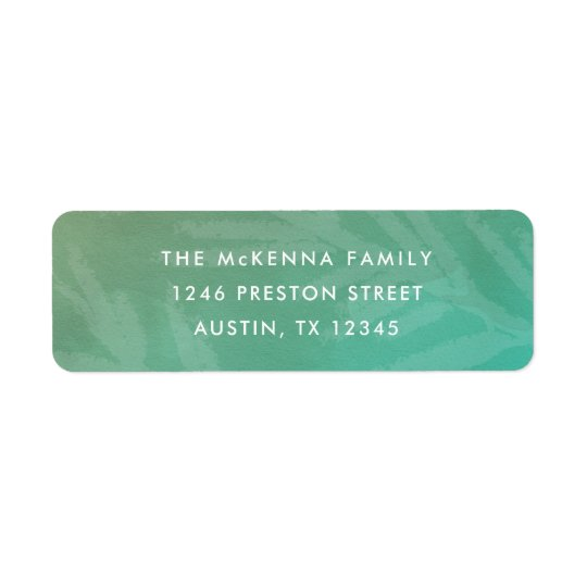 Ombre watercolor return address label