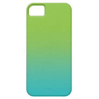 Ombre Watercolor Texture - Green and Teal Sea iPhone 5 Cases