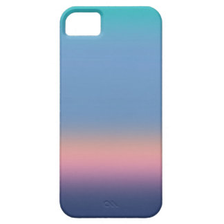Ombre Watercolor Texture Night Sky Teal Pink Blue Case For The iPhone 5