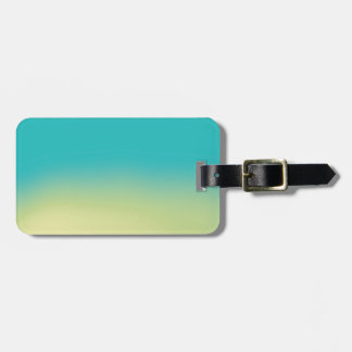 Ombre Watercolor Texture - Teal and Yellow Luggage Tag