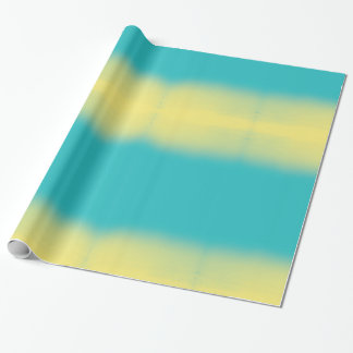 Ombre Watercolor Texture - Teal Blue and Yellow Wrapping Paper