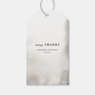 Ombre Watercolor Thank You Favor Gift Tags | GREY