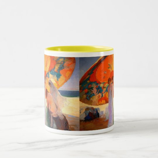 Ombres reflectides by LLUÍS MASRIERA Two-Tone Coffee Mug
