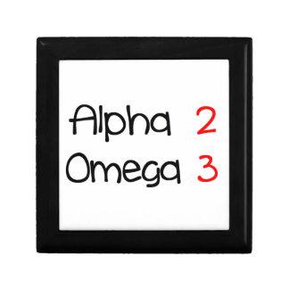 Omega alpha small square gift box