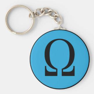 Omega Basic Round Button Key Ring
