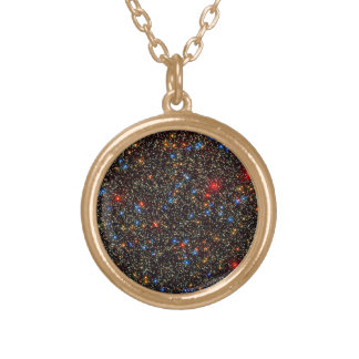 Omega Centauri Star Cluster Round Pendant Necklace