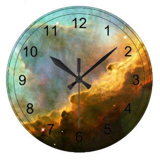 Omega Nebula Large Clock
