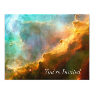 Omega Nebula Stellar Nursery 11 Cm X 14 Cm Invitation Card