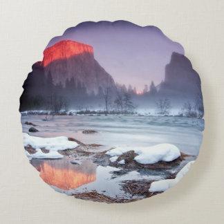 Omega Red Round Cushion