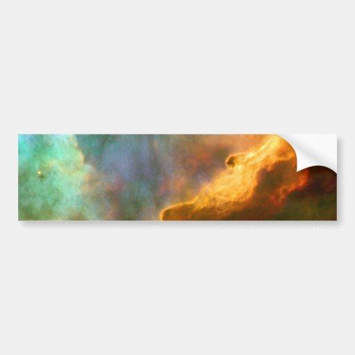 Omega / Swan Nebula Hubble Space Bumper Sticker