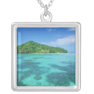 Omekang Islands, Rock Islands, Palau, Micronesia Silver Plated Necklace