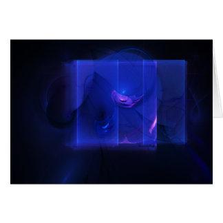 Omen Abstract Digital Fractal Artwork Note Card