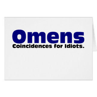 Omens Greeting Card