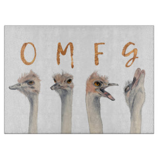 OMFG Ostriches Cutting Board