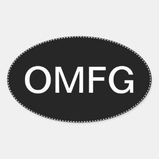 OMFG Oval Bumper Sticker