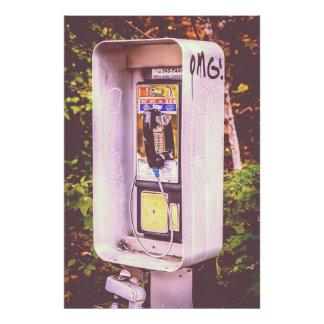 OMG! A Pay Phone Photo Print